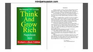 Think and Grow Rich   Install the Entire Book Into Your Brain In Three Minutes!