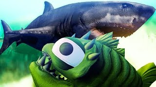 KING OF THE OCEAN UPDATE, NEW SHARKS, PLAY AS THE GREAT WHITE SHARK - Feed And Grow Fish Gameplay