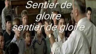 Karaoké Les Choristes - Vois sur ton chemin