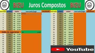 PLANILHA 2020 BIZU JUROS COMPOSTOS