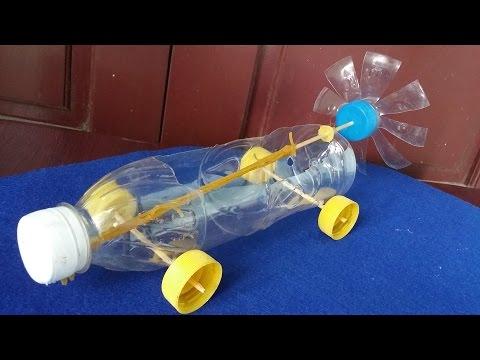 如何使橡皮筋動力車 | 使用塑料瓶 - YouTube