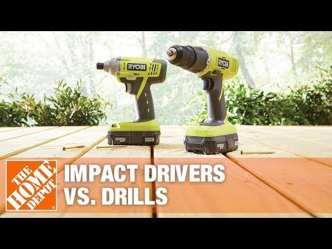 Impact Drivers vs. Drills