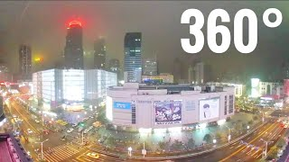 360° VR Skyline of Nanjing China city skyscrapers Samsung Gear 360 video