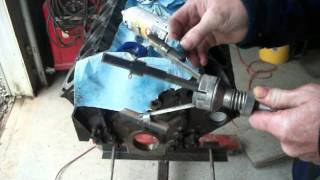 How to use a cylinder honing tool for a drill.  Engine rebuild Video # 10