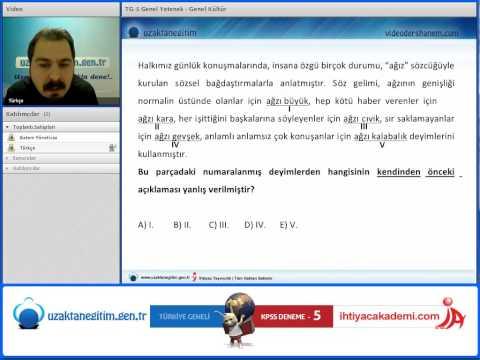 İhtiyaç TG 5 Deneme Sınavı Soru Çözüm Videosu Türkçe Soru 3