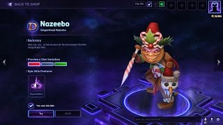 gingerbread nazeebo skin 2016 holiday heroes of the storm skin