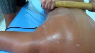 HBM  Cursos Livres - Massagem Modeladora - Cintura e Costas - Com Bambu - Parte IV