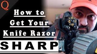 How to Sharpen a Kitchen Knife | Razor Sharp (BBQ Knife)