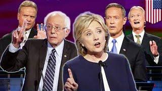 2016 Dem Debate #1: Hillary Clinton vs Bernie Sanders in Democratic debate in Las Vegas - TomoNews