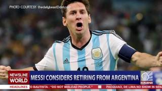 Messi considers retiring from Argentina