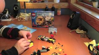 Lego cement / concrete mixer truck 60018 time lapse and stop motion
