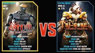 REAL STEEL WRB FINAL ATOM (90) VS TRI GORE (279) New Robots UPDATE (Живая сталь)