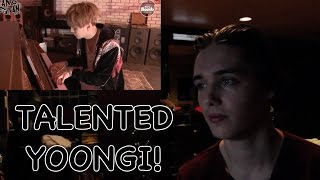 [BANGTAN BOMB] 'WINGS' Short Film Special - First Love (SUGA's Playing the piano) REACTION.
