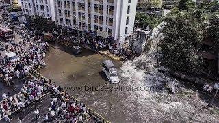 Dandekar bridge दांडेकर पूल Pune   Flood like situation   Canal wall burst   Drone shots