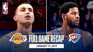 Full Game Recap: Lakers vs Thunder | Kuzma Goes Off For 32 Points width=