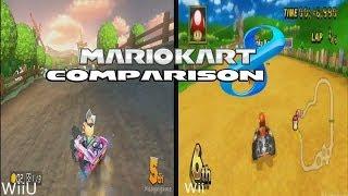 Mario Kart 8 - Moo Moo Meadows Comparison - Wii U vs Wii  [ HD ]