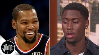 Caris LeVert describes his reaction to the Nets signing Kevin Durant and Kyrie Irving | The Jump