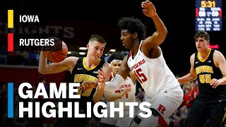 Highlights: Iowa at Rutgers   Big Ten Basketball