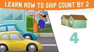 Learn how to skip count by 2 - Skip Counting  for toddlers, preschool and kindergarten