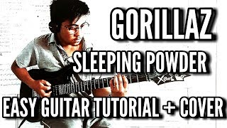 Sleeping Powder ( Rock Cover ) - Gorillaz - Easy Guitar Cover & Tutorial By Jhonathan 2017
