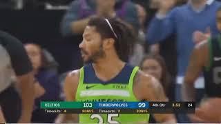 Derrick Rose School Kyrie Irving by a Crossover, Timberwolves  Vs Celtics