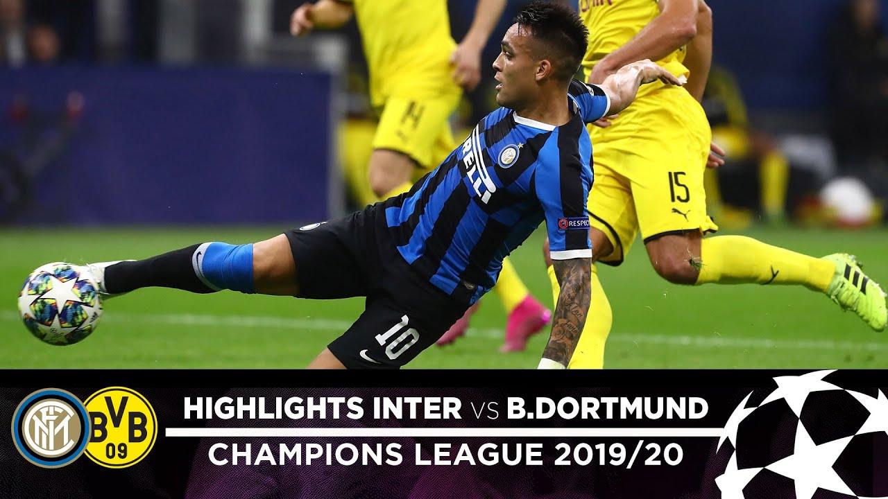 inter 2-0 borussia dortmund highlights