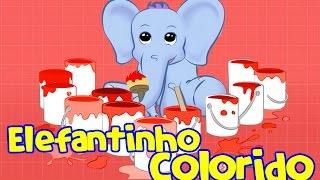 Elefantinho colorido que cor? - Elefantinho Bonitinho - Música para crianças