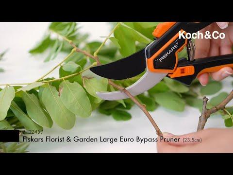 Euro Bypass Florist & Garden Pruner Large Fiskars (23.5cm)