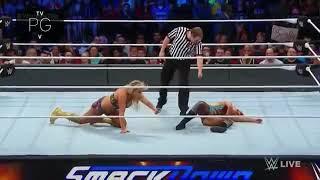 WWE #SmackDown Charlotte flair Vs becky lynch fighting