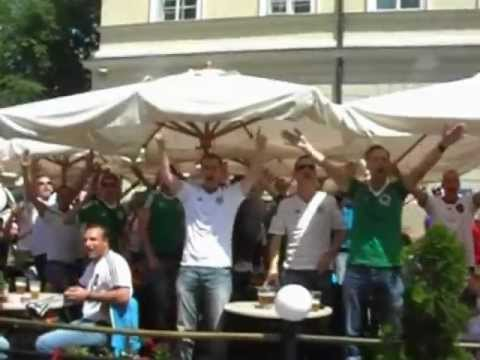 German and Portugese fans singing in Lviv (Euro 2012)
