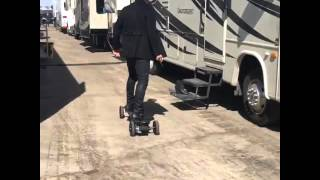 Nina Dobrev skateboarding on set of XXX: The Return of Xander Cage (April 19, 2016)