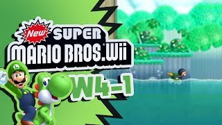 (LW)New Super Mario Bros. Wii - World 4-1 (with Luigi)