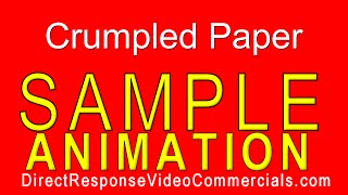 Direct Response Video Commercials Crumpled Paper Animation