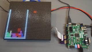 Tetris-like Falling Blocks Game on FPGA & LED Matrix