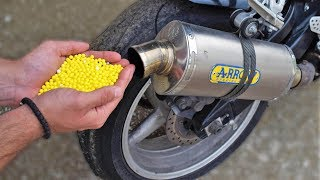 EXPERIMENT 10000 AIRSOFT BBs in MOTORCYCLE EXHAUST