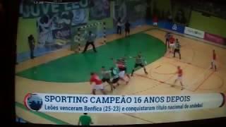 Andebol: Sporting 25 - 23 SL BENFICA