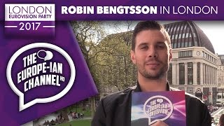 Robin Bengtsson (Sweden 2017) - Interview - London Eurovision Party 2017 - #LDNEurovision