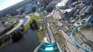 Kraken Front Seat on-ride HD POV Seaworld Orlando