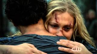 The 100 - Bellamy and Clarke reunion scene - 2x05