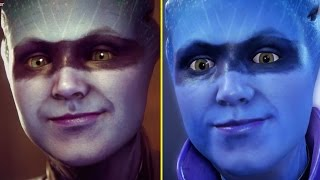 Mass Effect Andromeda Trailer vs Retail PS4 Graphics Comparison