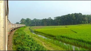 Speedy run of Rupsha Express Train / Sound of Running Train / Bangladesh Railways Inter-city Train