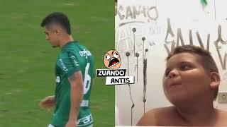 Gordinho rindo do Egídio do Palmeiras