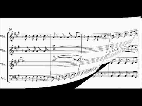 Viva La Vida String Quartet Arrangement Score Video Free Music