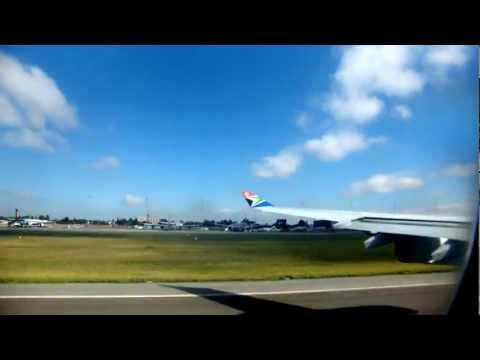 Airbus A340-300 take off in South Africa!