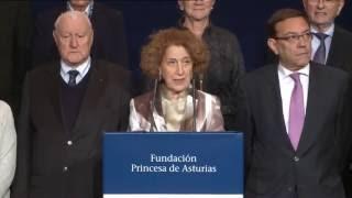 Mary Beard, Premio Princesa de Asturias de Ciencias Sociales 2016
