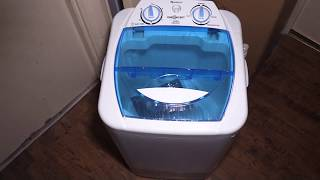 oneConcept Camping Single Mini Portable Top Loading Compact Washing Machine quick unpack