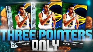 DIAMOND STEPHEN CURRY THREE POINTERS ONLY - NBA 2K16 DISCARD CHALLENGE