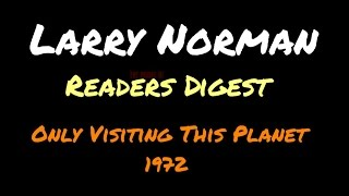 Larry Norman - Reader's Digest ~ [Lyrics]