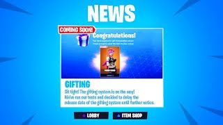 *NEW* FORTNITE GIFTING SYSTEM RELEASE DATE IN SEASON 6!?