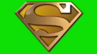 green screen effect golden superman logo lighting